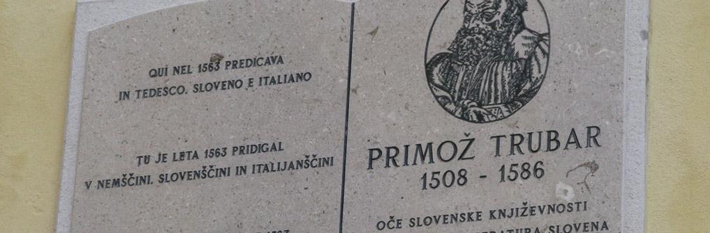 Spominska plošča Primožu Trubarju